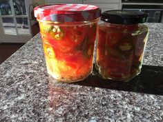 Saturday, July 01, 2017 I make these all the time, they are great on pizzas, in sandwiches, added to chilli or on top of nachos, anything really!  Very easy and cheap if you have grown the chillis yourself.  This amount will make about 2 jars, approximately 8 chillis, but easy to double mixture is you have more.   3/4 cup water 3/4 cup distilled white vinegar 1/4 cup cider vinegar 3 tbs white sugar 1 tbs salt 1 clove crushed garlic sliced jalapenos  Bring all ingredients to the boil, add… Pickling Jalapenos, Water 3, Distilled White Vinegar, Tbs, Nachos, Cider Vinegar, Pickles, Food To Make, Pizza