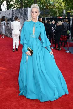 ff5dd62cb0ed90 Poppy Delevingne in Elie Saab attends the