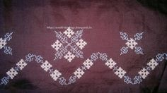 Crafti Musings..: Saree embroidery 12 - Kutchwork peacocks