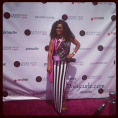 DailyCurlz: What I wore to Generation Beauty at LA live /Mi outfit para #genbeauty