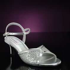 prom Shoe, DYEABLES DRE-SILVER-WIDE Shoes for proms & proms: