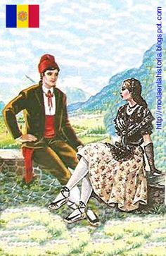 HISTORIA DE LA MODA - FASHION HISTORY : Trajes Típicos del Mundo - World costumes EUROPA Andorra, Europe, Painting, Folklore, Fashion Plates, Paper, Native American Makeup, Vatican City, Flags Of The World