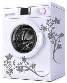 vinyl decals for your washer....think im gonna try this