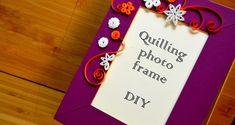 Quilling photo frame - DIY • Art Platter
