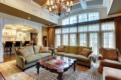 Great Room - Glenview Haus - Custom Doors, Wine Cellars and Cabinets in Chicago