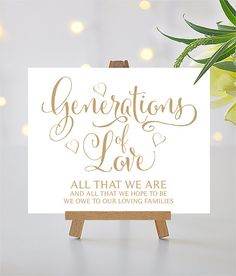 Generations of Love Sign  8 x 10 Sign  DIY by CharmingEndeavours