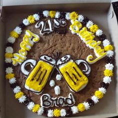 Cookie Cake Designs For 21st Birthday : Cute 21st birthday cookie cake with a martini glass. Could ...