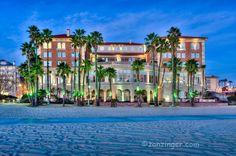 Casa Del Mar hotel on the beach in Santa Monica, CA