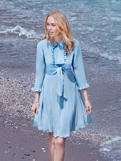 Collared and Ruffled Dress 09/2015