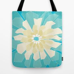 Bursting flower Tote Bag by Preethiprabhu - $22.00