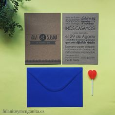 Invitaciones en kraft!!! Son puro LOVE
