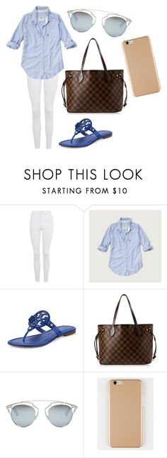 """""""preppy look"""" by fashionblogger2122 on Polyvore featuring Topshop, Abercrombie & Fitch, Tory Burch, Louis Vuitton and Christian Dior"""