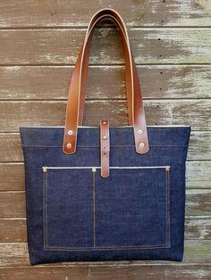 Artisan tote bag by Backyard Denim - English craftsmanship meets Japanese  selvedge denim from legendary mill 2410cdf12f