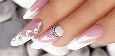 Alege gelul uv alb pentru manichiura french! - Unghii False - BrillBird Nails, Disney, Beauty, Finger Nails, Ongles, Beauty Illustration, Nail, Disney Art, Nail Manicure