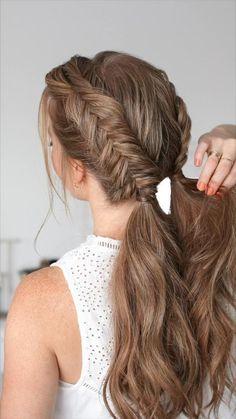 @missysueblog • everyday hair tutorials Easy Hairstyles For Long Hair, Braids For Long Hair, Summer Hairstyles, Cute Hairstyles, Wedding Hairstyles, Hairstyles For A Party, Braids For Wedding, How To Braid Hair, Braids For Girls