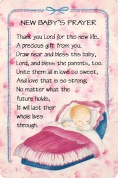 New Baby Prayer - Congratulations Nana Marykay!