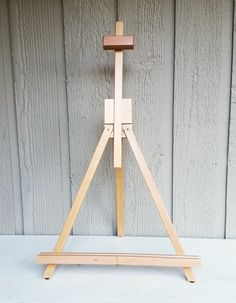 Large Folding Tabletop Easel, 20 Inch Adjustable Natural Wood Working and Display Easel by NaturesWalkStudio on Etsy