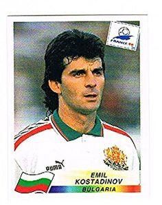 Emil Kostadinov of Bulgaria - France 98 - Panini Bulgaria, France, Fifa World Cup, Vignettes, Soccer, Football, Baseball Cards, Albums, Stickers