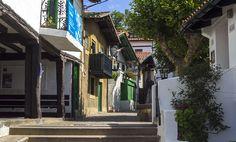 Callejuela en el Puerto Viejo de Algorta