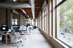 Art and technology company VSCO has recently moved into a new office space located in Oakland, California which were designed by DeBartolo Architects. Open Office, Cool Office, Office Ideas, Office Designs, Be Design, Logo Design, Architect Logo, Architect House, Interior Styling