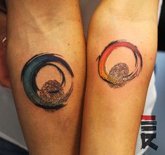 lovers fingerprint rainbow tattoo by enhancertattoo on DeviantArt