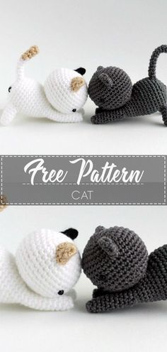 Mesmerizing Crochet an Amigurumi Rabbit Ideas. Lovely Crochet an Amigurumi Rabbit Ideas. Crochet Cat Pattern, Crochet Motifs, Crochet Patterns Amigurumi, Crochet Dolls, Knitting Patterns, Crochet Cat Toys, Crochet Amigurumi Free Patterns, Crochet Animal Patterns, Tutorial Crochet