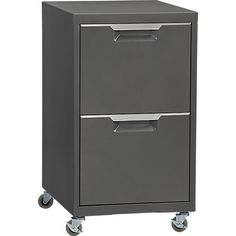 TPS carbon 2-drawer filing cabinet  | CB2 ($179) (2 drawers for files but does not lock)