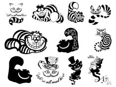 Cheshire Cat Drawing, Cheshire Cat Tattoo, Cheshire Cat Smile, Chesire Cat, Tattoo Gato, Cat Tattoos, Alice And Wonderland Tattoos, Wonderland Alice, Wonderland Party