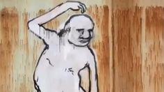 Moving graffiti art
