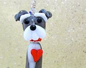 Schnauzer Dog Lover Pendant or Ornament made by Suzoom  Send a picture, she'll do your dog, cat. etc.