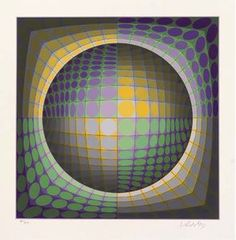 Abstract Composition 20 - (Victor Vasarely)