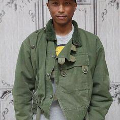 This is an authentic Swedish military Biker jacket just like the one Pharrell Williams currently has! Mens Military Style Jacket, Vintage Military Jacket, Military Jackets, Motorcycle Jackets, Army Clothes, Work Clothes, Swedish Army, Best Dressed Man, Military Fashion