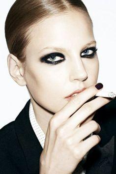 Elisabeth Erm goes dark in Vogue Paris // #vogue #eyes