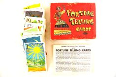 Vintage Fortune Telling Cards Complete Set of 36 by ThirdShift