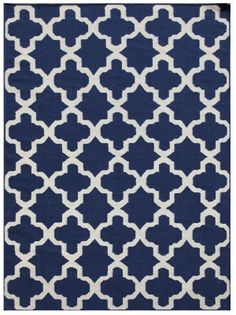 RugStudio presents Addison And Banks Maroc Aster True Navy Flat-Woven Area Rug