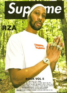 Wu Tang's own RZA on the Supreme pamphlet. Bringing Supreme to the rap culture. Making the meaning of Supreme more than just a simple logo on a shirt
