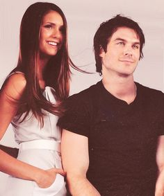 The Vampire Diaries. So damn cute together!
