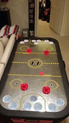alcohockey table bar diy table table redneck games rh pinterest com