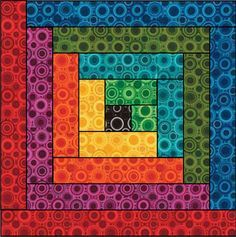 this is actually a quilt block - the log cabin - BUT would make a great card using up scraps!