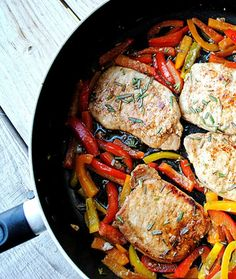 Pork Chops with Balsamic Peppers