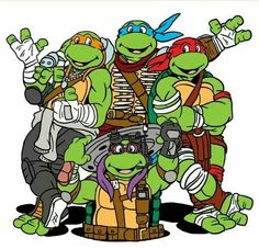 Ninja Turtles! Nice mash-up of the 1987 television series and the oncoming movie!