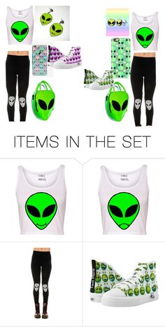 """Happy Alien V.S. Sad Alien"" by lily96277 on Polyvore featuring art, happy and sad"