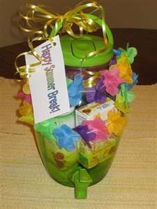 End-of year teacher gift - beverage dispenser filled with summer treats