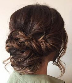Hair Styles 2018 Beautiful braid updo wedding hairstyle for romantic brides – Bridal hairstyle. Get inspired by this low updo bridal hair gorgeous styles,wedding hairstyle Discovred by : Byrdie Beauty Bridal Hair Updo, Wedding Hair And Makeup, Wedding Updo, Hair Makeup, Makeup Hairstyle, Up Dos For Wedding, Hairstyle Ideas, Messy Wedding Hair, Romantic Wedding Hair
