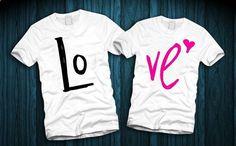 LOVE Couples Shirts LOVE Couples T-Shirts by FerskaShirtsAndGifts