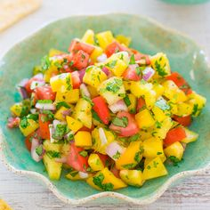 I adore salsa of any kind and can make a meal out of it. No shame in chips and salsa for dinner for me. I especially love fruitysalsa. There's something aboutthe sweet and savory element that I can't get enough of. This easy salsa is ready in 5 minutes and I prefer homemade salsa because …