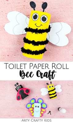activities for toddlers at home Toilet Paper Roll Bee Craft for Kids Bee Crafts For Kids, Creative Activities For Kids, Easy Arts And Crafts, Spring Crafts For Kids, Easy Crafts For Kids, Toddler Crafts, Preschool Crafts, Fun Crafts, Easter Activities