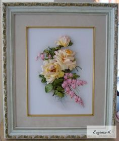 Gallery.ru / Фото #7 - Вышивка лентами 3. - Evgenia-K Silk Ribbon Embroidery, Frame, Home Decor, Needlepoint, Embroidery, Picture Frame, Decoration Home, Room Decor, Frames