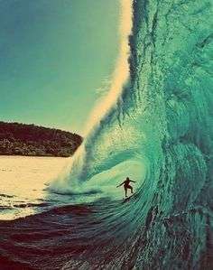 My hobbies have also included trying surfing.  I did not catch a big wave like this.
