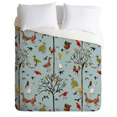 Rachelle Roberts Gathering Of The Webbed Feet Duvet Cover | DENY Designs Home Accessories